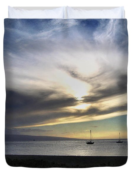 The Sky Is Exploding Duvet Cover by Laurie Search