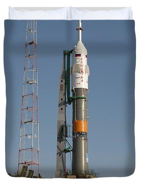 The Soyuz Rocket Shortly After Arrival Duvet Cover by Stocktrek Images