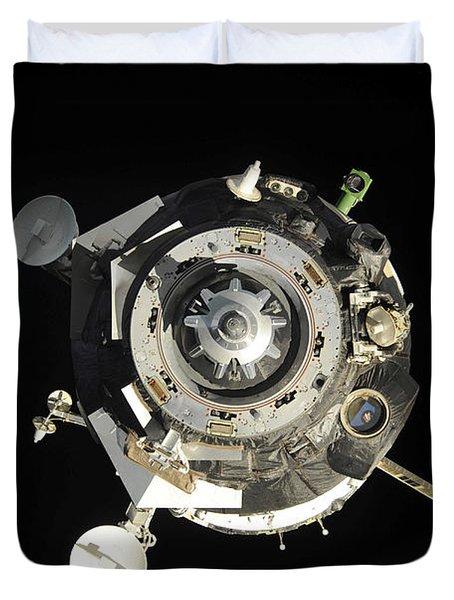 The Soyuz Tma-17 Spacecraft Departs Duvet Cover by Stocktrek Images