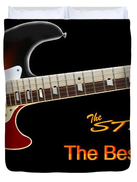 The Strat Les Guitar Duvet Cover by Mike McGlothlen