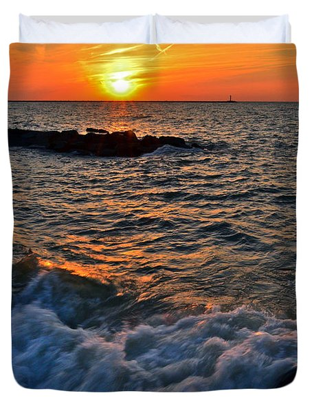 The Sun Is Wearing Shades Duvet Cover by Frozen in Time Fine Art Photography