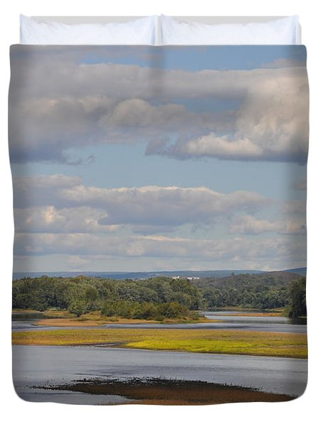 The Susquehanna River At Kingston Pa. Duvet Cover by Bill Cannon