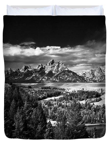 The Tetons Duvet Cover by Larry Carr