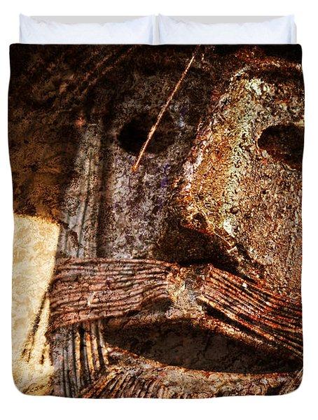 The Tin Man Duvet Cover by Kathy Clark