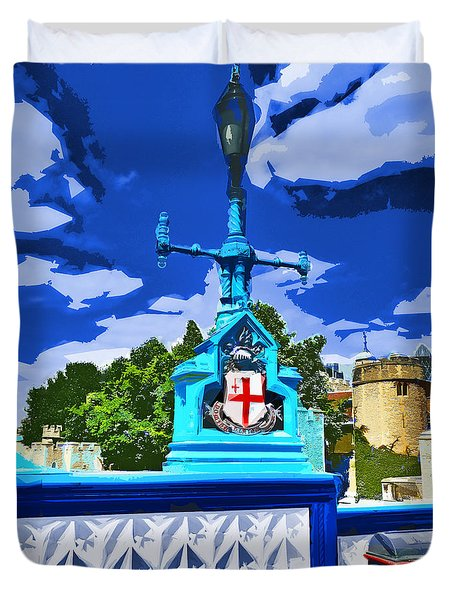 The Tower Lamp Post Duvet Cover by Steve Taylor