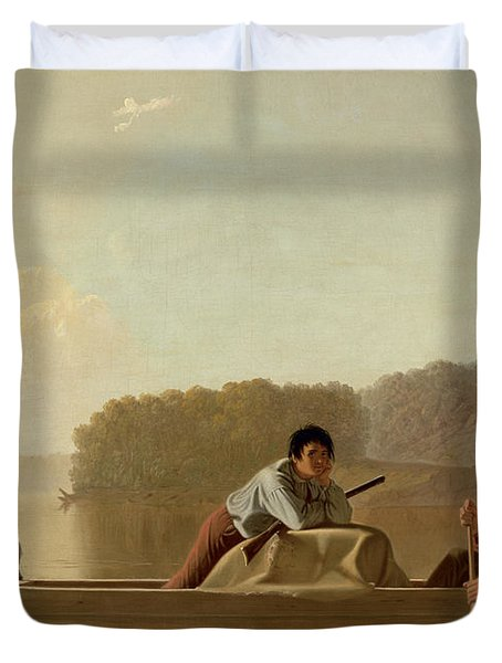 The Trapper's Return Duvet Cover by George Caleb Bingham