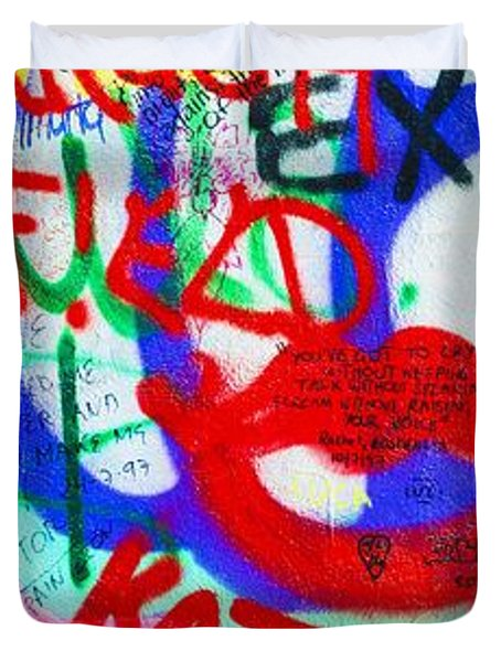 The U2 Wall, Windmill Lane, Dublin Duvet Cover