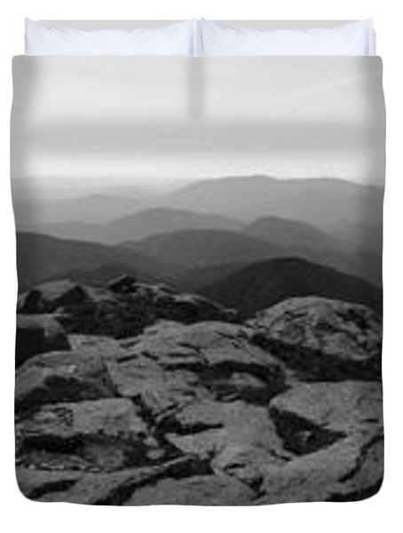 The View North From Mt. Marcy Black And White Three Duvet Cover