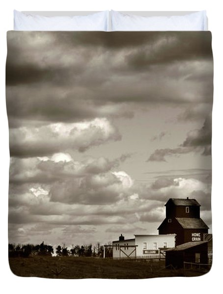 The Village Duvet Cover by Jerry Cordeiro