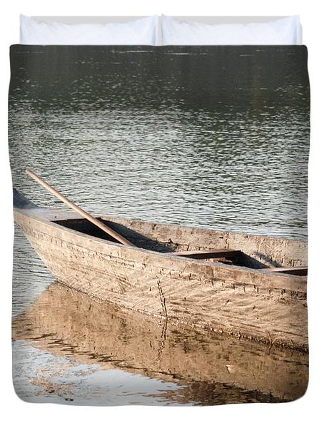 Duvet Cover featuring the photograph The Wait by Fotosas Photography
