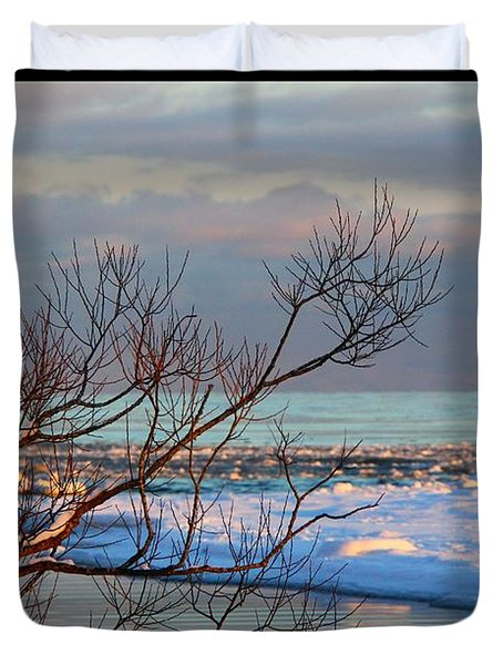 Duvet Cover featuring the photograph The Water's Edge by Davandra Cribbie