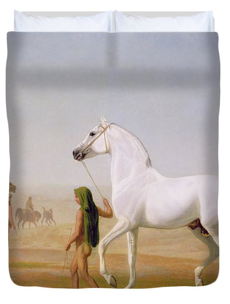 The Wellesley Grey Arabian Led Through The Desert Duvet Cover by Jacques-Laurent Agasse