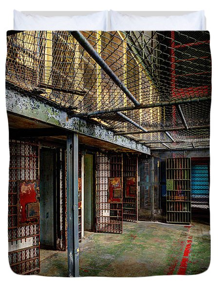 The West Virginia State Penitentiary Cells Duvet Cover by Dan Friend