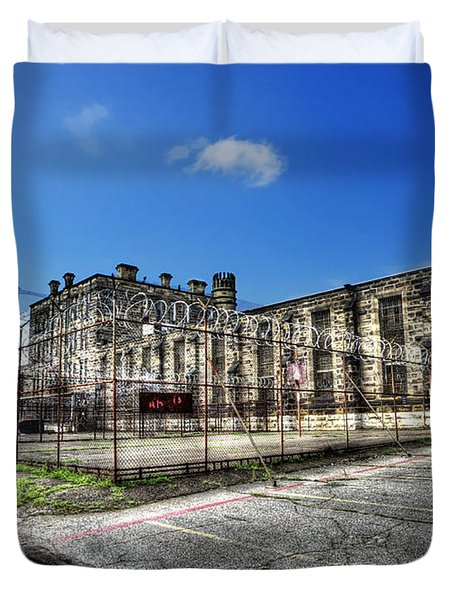 The West Virginia State Penitentiary Courtyard Outside Duvet Cover by Dan Friend