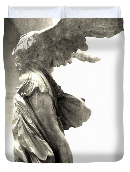 The Winged Victory - Paris Louvre Duvet Cover