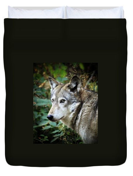 The Wolf Duvet Cover by Steve McKinzie