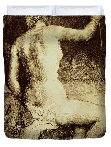 The Woman With The Arrow Duvet Cover by Rembrandt Harmensz van Rijn