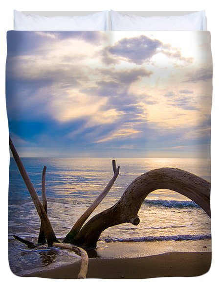 The Wooden Arch Duvet Cover by Marco Busoni