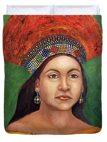 The Zulu Bride Duvet Cover by Enzie Shahmiri