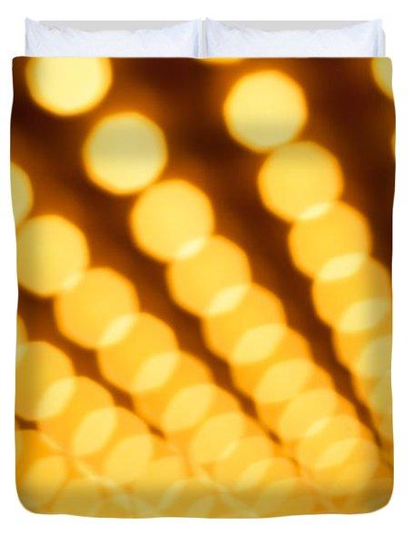 Theater Lights In Rows Defocused Duvet Cover