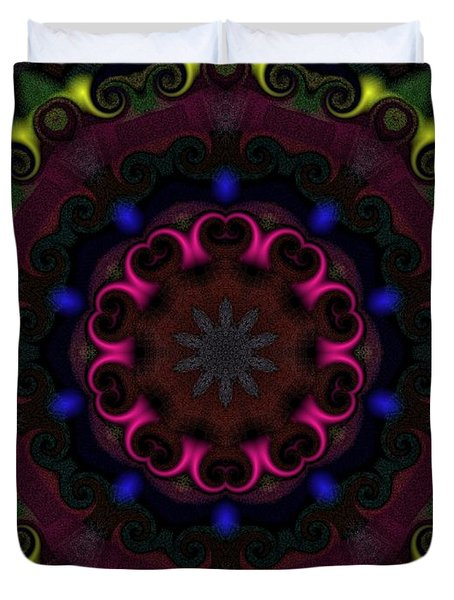 Duvet Cover featuring the digital art Think Pink by Alec Drake