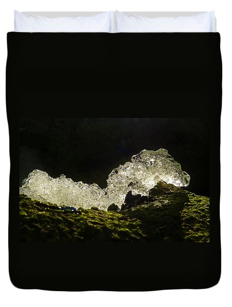 Duvet Cover featuring the photograph This Is A Very Hungry Cold Caterpillar  by Steve Taylor