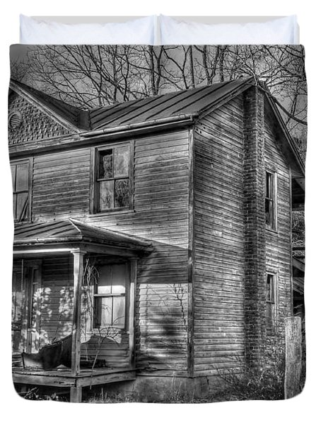 This Old House Duvet Cover by Todd Hostetter