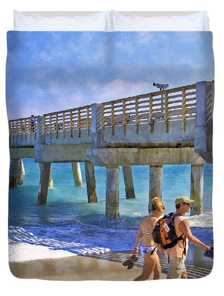 This Side Of Paradise Duvet Cover by Debra and Dave Vanderlaan