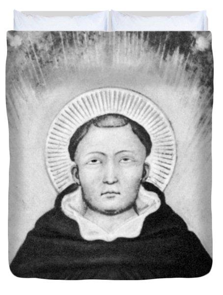Thomas Aquinas, Italian Philosopher Duvet Cover by Science Source