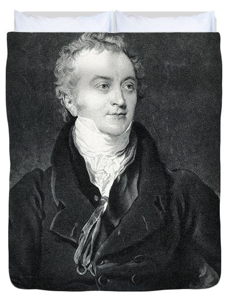Thomas Young, English Polymath Duvet Cover by Photo Researchers