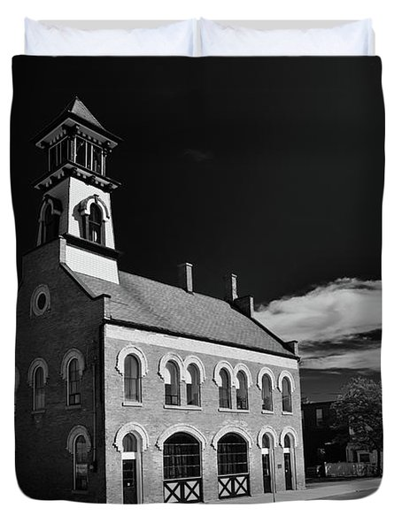 Thorold's Old Fire Hall Duvet Cover by Guy Whiteley
