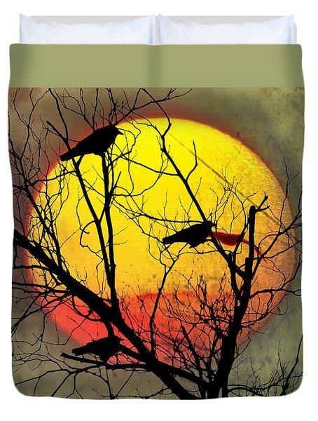 Three Blackbirds Duvet Cover