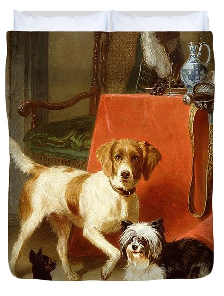 Three Dogs Duvet Cover by Conradyn Cunaeus