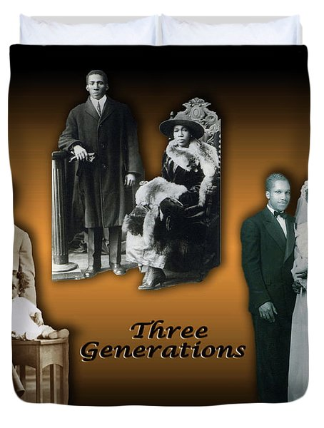 Three Generations Duvet Cover by Terry Wallace