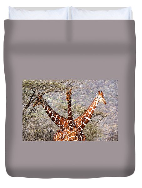 Three Headed Giraffe Duvet Cover