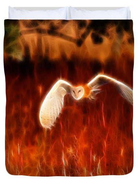 Through The Fire Duvet Cover by Beth Sargent