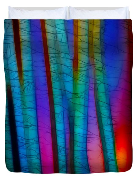 Through The Trees Duvet Cover by Judi Bagwell
