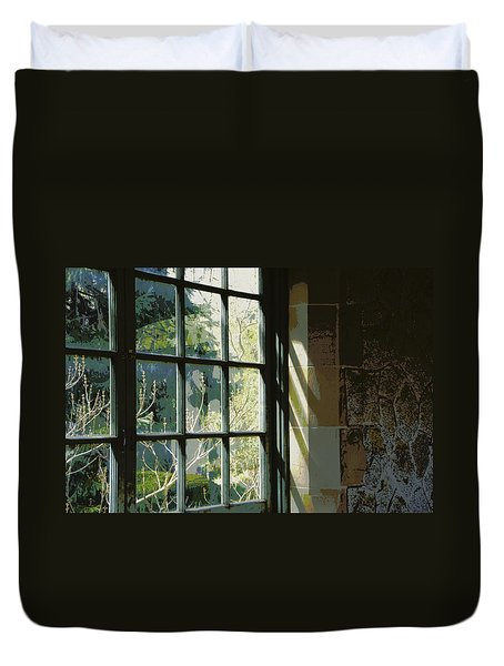 Duvet Cover featuring the photograph View Through The Window by Marilyn Wilson