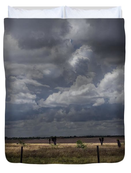 Thunder In The Distance Duvet Cover by Dinah Anaya