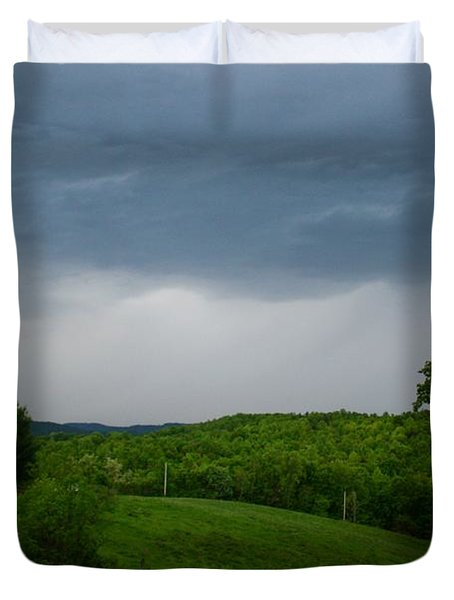 Duvet Cover featuring the photograph Thunderstorm by Kathryn Meyer