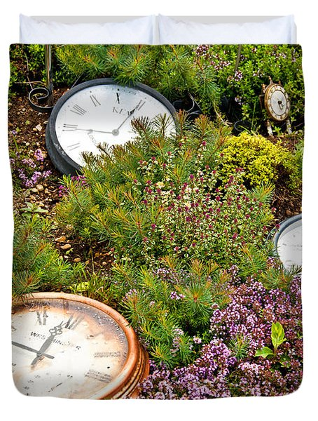 Thyme And Time Duvet Cover by Chris Thaxter