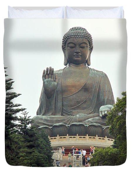 Tian Tan Buddha Duvet Cover by Valentino Visentini