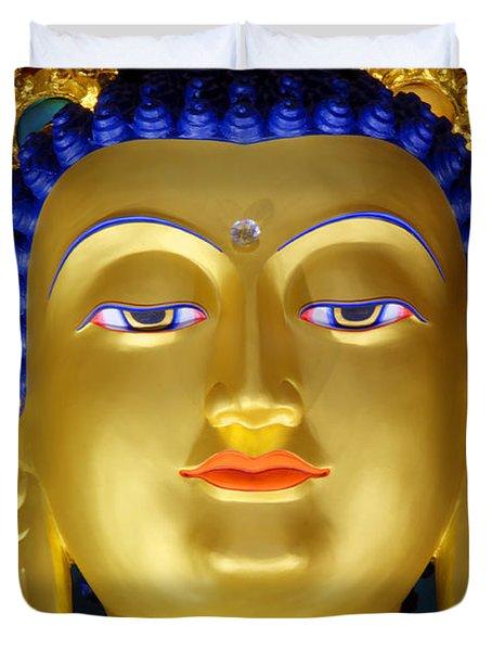 Tibetan Bhudda 3 Duvet Cover by Bob Christopher