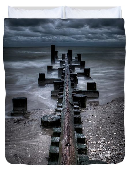 Tidal Movement Duvet Cover by Nick  Shirghio