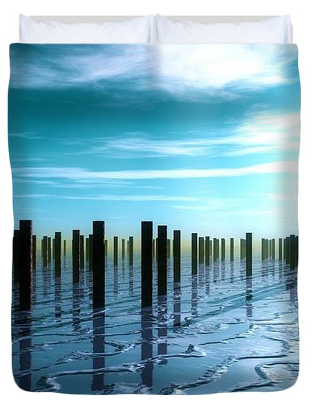 Tide Is Out... Duvet Cover by Tim Fillingim