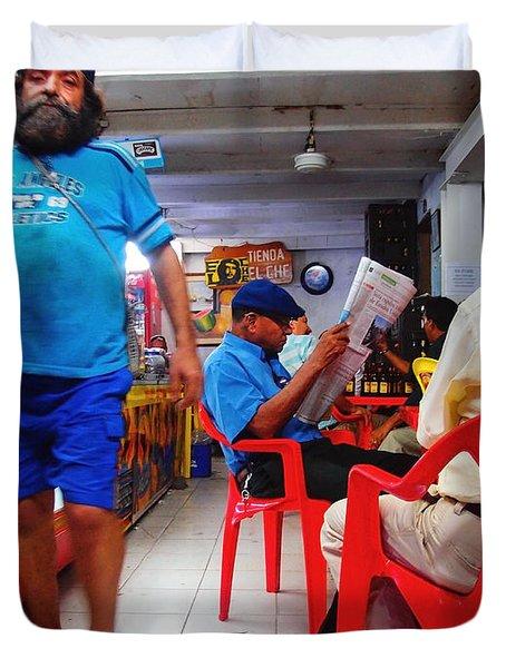Tienda El Che Duvet Cover by Skip Hunt