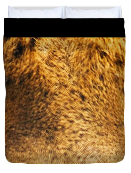 Tiger Eyes Duvet Cover by Sumit Mehndiratta