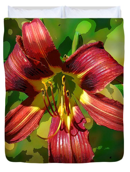 Tiger Lily Duvet Cover by Cindy Manero