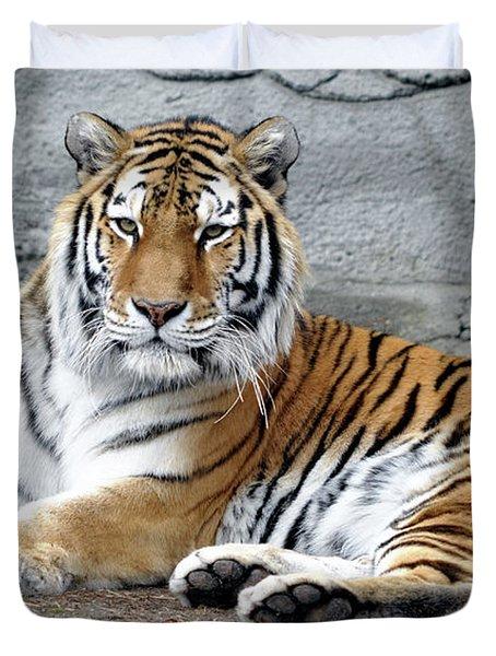 Tiger Resting Duvet Cover