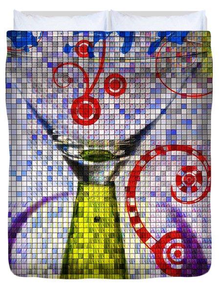 Tiled Glass Duvet Cover